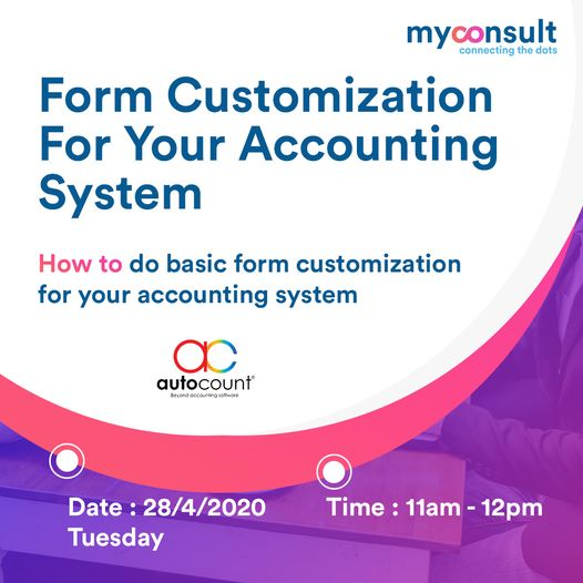 learn form customization for autocount accounting software