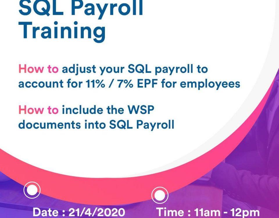 myconsult sql payroll training on 21/4/20